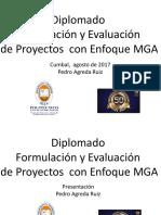 Formulacion, Evaluacion y Presentacion Mga i Sesion