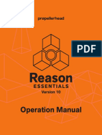 Reason Essentials 10 Operation Manual