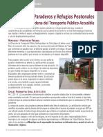 Ficha 14 Paraderos y Refugios Peatonales