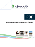 AFRAME Certification CIME Programme V2