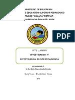 Sylabus Investigacion