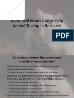 Bioethical Issues Concerning Animal Testing in Research