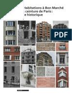 Habitations Bon Marche Ceinture Paris Histoire