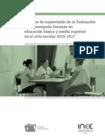 2018 Informe Supervisión Evaluación Desempeño Docente