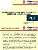 Marketing and Promotion of Xtra Power Fleet Card Loyalty Program