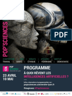 Programme Forum Pop'Sciences - A Quoi Revent Les Intelligences Artificielles