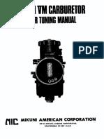 Carburetor VM Manual