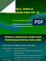 KULIAH THT (Slide Dari Kaka Kelas Karena Dari Dr Putri Rusak)