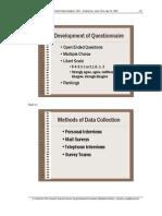 Development of Questionnaire