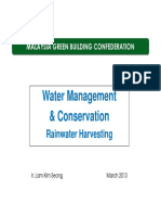 STREAM 2-Water Management & Conservation - Rainwater Harvesting (Ir. Lam Kim Seong)