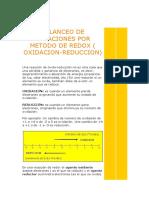 BALANCEO DE ECUACIONES POR METODO DE REDOX.docx