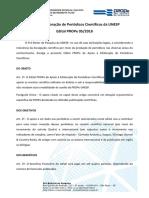 Edital 05 2018  de Apoio a Editoracao de Periodicos Cientificos