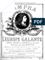 Andre Campra, Galantna Evropa