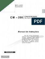 Chave de Fluxo CM 200 Manual