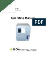 KD3800 New Operating Manual
