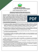 Edital Retificado 06-2018 - Pronatec - Profissionais - Fic - 2018