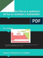 Propiedades Físicas y Químicas de Los No Metales