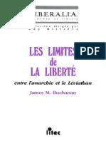 [James M. Buchanan] Les Limites de La Lberté