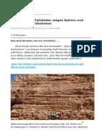 Altägyptische Felsbilder Zeigen Sphinx Und Transport Von Obelisken