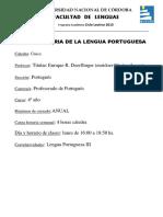 Historia de La Lengua Portuguesa