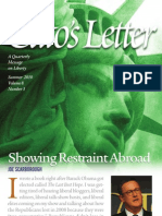 Showing Restraint Abroad, Cato Cato's Letter No. 3
