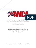 AMCA Study Guide Phlebotomy