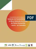 Lineamientos Estandar Sostenibilidad RSPO Abril2017