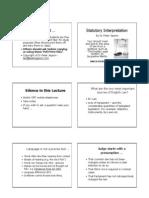 Statutory Interpretation