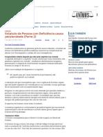 ConJur - José Simão_ Estatuto Da Pessoa Com Deficiência Traz Poucas Mudanças
