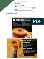 Receita Bolo Vegano - Ribeirão Preto