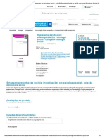 Livro Representações Sociais_ Investigações Em Psicologia Social - Coleção Psicologia Social Em Até 6x Sem Juros _ Psicologia Social _ CIA