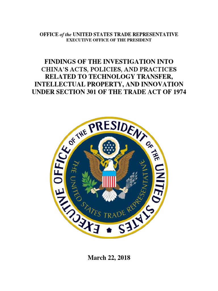 Ustr Final Section 301 Report On China Office Of The United States Solar Charge Controller Pwm Manufacturersupplier Trade Representative Poltica Internacional