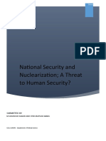 National security and neuclearization, a threat to human security?