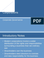 Lecture Four - Corporations, Corporate Governance