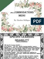 accomodation menu
