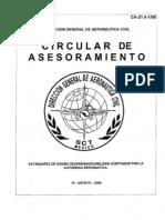 CA 21.4-1-00 - ESTANDARES DE DISEÑO DE AERONAVEGABILIDAD ACEPTADOS POR LA AUTORIDAD AERONAUTICA