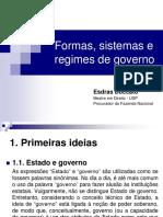 Formas Sistemas e Regimes de Governo