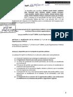 Proyecto de ley de fortalecimiento de las organizaciones políticas y prevención de filtración de dinero ilícito