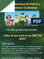 Código Nacional de Policía Diapositivas LEY 1801 DE 2016