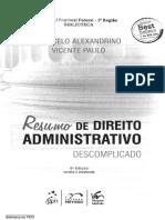 Resumo de Direito Administrativo Descomplicado 824-2016 Sumario