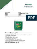 Detergente Liquido 5 Lts Fuzol Modelo