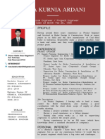 CV - Reza Kurnia Ardani - Project Engineer