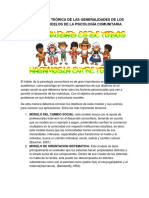 Apropiación Teórica de Las Generalidades de Los Distintos Modelos de La Psicología Comunitaria.(1)