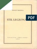 Ernest Bernea - Stil legionar -colectia Omul Nou 1953