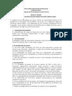 Edital de Bolsa Doutorado 2016