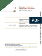 Postma 1977, Galactose Transport in Salmonella Typhimurium