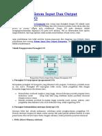 Pengertian Sistem Input Dan Output Kompu