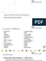 Associate Data Analytics-Most Demanded Course