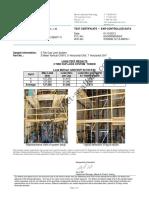 Certificado Andamio Coronet - Tipo Cuplock