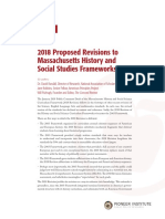 Comments on the 2018 Proposed Revisions to Massachusetts History and Social Studies Frameworks